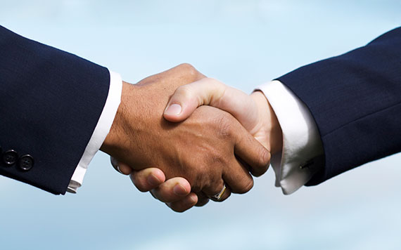 Procurement themed photo - Shaking hands